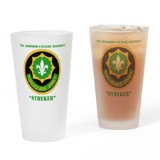 SS I - 2nd Armored Cavalry Regiment Drinking Glass