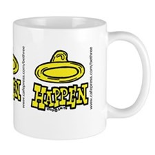 condom_happen_right_yellow_bumper_stick Mug