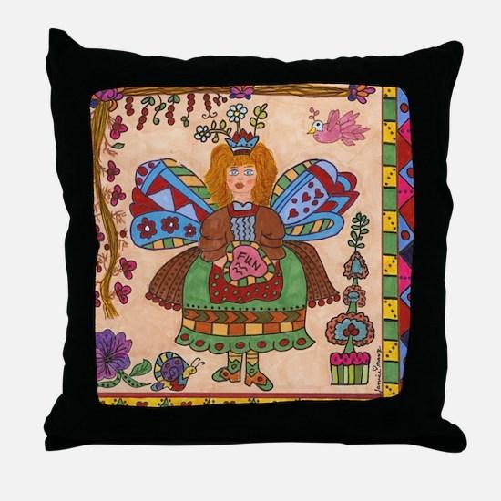Fairy Of FUN Throw Pillow