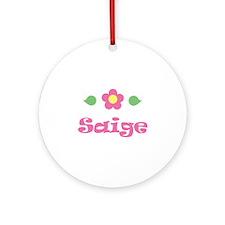 "Pink Daisy - ""Saige"" Ornament (Round)"