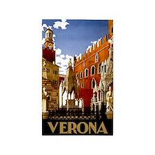 Vintage Verona Italy Travel 3'x5' Area Rug