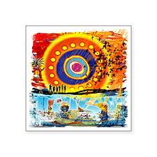 "Lost TV Oceanic Beach Splas Square Sticker 3"" x 3"""