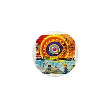 Lost TV Oceanic Beach Splash Mini Button