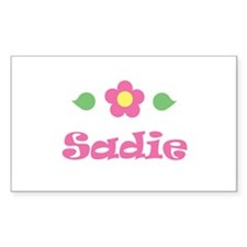 """Pink Daisy - """"Sadie"""" Rectangle Decal"""