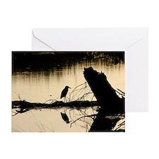 bird in lake 1 Greeting Card