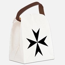 Cross of Malta - Black Canvas Lunch Bag