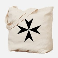 Cross of Malta - Black Tote Bag