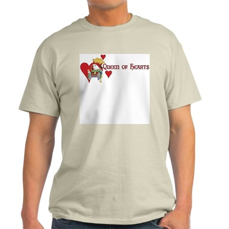 Queen of Hearts Ash Grey T-Shirt