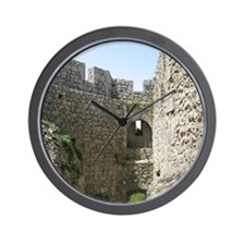 ruinsFrance01 Wall Clock