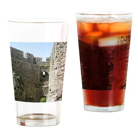 ruinsFrance01 Drinking Glass