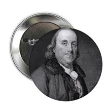 "Benjamin Franklin by RW Dodson after  2.25"" Button"