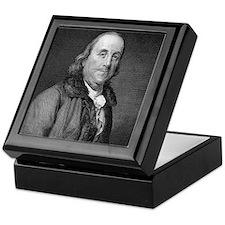 Benjamin Franklin by RW Dodson after  Keepsake Box