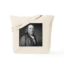 Benjamin Franklin by RW Dodson after JB L Tote Bag