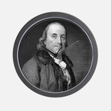 Benjamin Franklin by RW Dodson after JB Wall Clock
