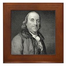 Benjamin Franklin by RW Dodson after J Framed Tile