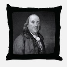 Benjamin Franklin by RW Dodson after  Throw Pillow