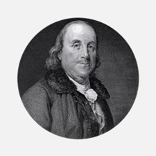 Benjamin Franklin by RW Dodson afte Round Ornament