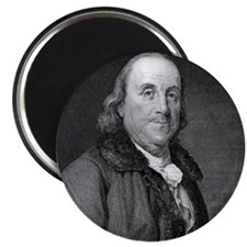 Benjamin Franklin by RW Dodson after JB Lon Magnet