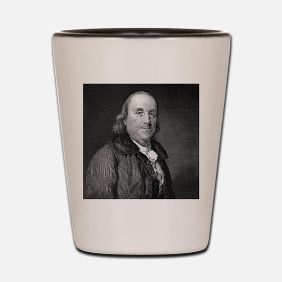 Benjamin Franklin by RW Dodson after JB Shot Glass