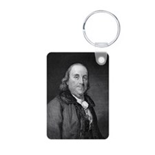 Benjamin Franklin by RW Do Aluminum Photo Keychain