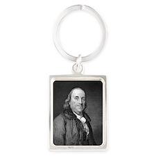Benjamin Franklin by RW Dodson a Portrait Keychain