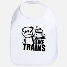 I Like Trains! Baby Bib