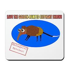 Save the Golden Rumped Elephant Shrew Mousepad