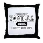 Vanilla University Throw Pillow