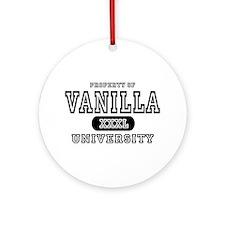 Vanilla University Ornament (Round)