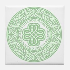 celtic_cinco_ltgreen Tile Coaster
