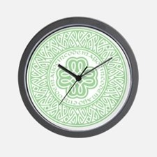celtic_cinco_ltgreen Wall Clock