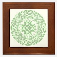 celtic_cinco_ltgreen Framed Tile