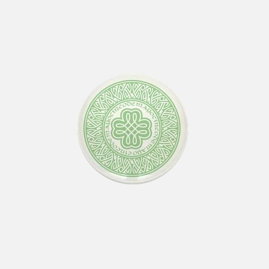 celtic_cinco_ltgreen Mini Button