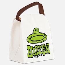 condom_happen_right_green Canvas Lunch Bag