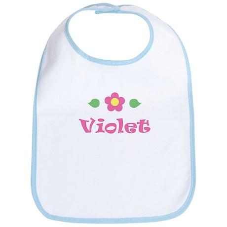 "Pink Daisy - ""Violet"" Bib"