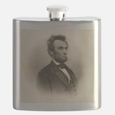 Portrait of Abe Lincoln-Edit Flask
