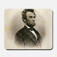 Portrait of Abe Lincoln-Edit Mousepad