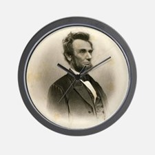 Portrait of Abe Lincoln-Edit Wall Clock
