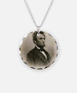 Portrait of Abe Lincoln-Edit Necklace