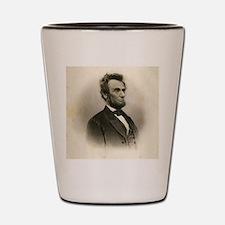 Portrait of Abe Lincoln-Edit Shot Glass