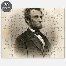 Portrait of Abe Lincoln-Edit Puzzle