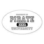 Pirate University T-Shirts Oval Sticker