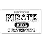 Pirate University T-Shirts Rectangle Sticker