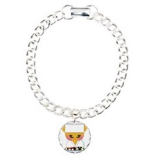 sushi chef cat Charm Bracelet, One Charm