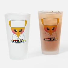 sushi chef cat Drinking Glass