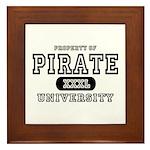 Pirate University T-Shirts Framed Tile