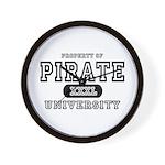 Pirate University T-Shirts Wall Clock