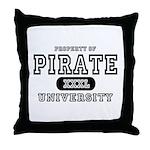 Pirate University T-Shirts Throw Pillow