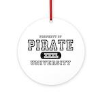Pirate University T-Shirts Ornament (Round)