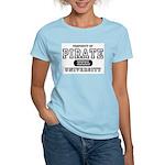 Pirate University T-Shirts Women's Pink T-Shirt